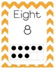Chevron Numbers 0-20 with Ten Frames