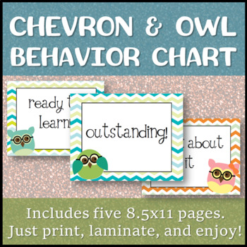 Chevron OWL Behavior Chart [just print and clip!]