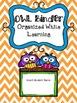 Chevron OWL Binder Covers Editable Powerpoint