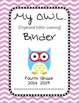 Chevron OWL Binder Fourth Grade