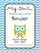 Chevron OWL Binder Fourth Grade