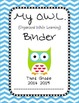 Chevron OWL Binder Third Grade