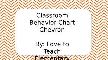 Chevron Orange Clip Chart