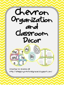 Chevron Organization and Classroom Decor
