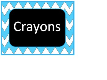 Chevron Organization labels (Light Blue)