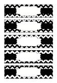 Chevron Organizing Drawer Labels - Small - Black & White -