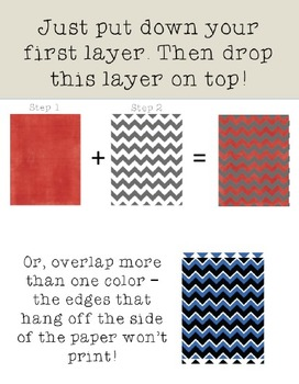 Chevron Overlays - Make your own chevron papers!
