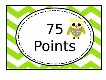 Chevron Owl AR Chart (editable)