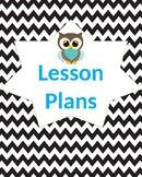 Chevron Owl Binder Covers and Labels- EDITABLE!!!
