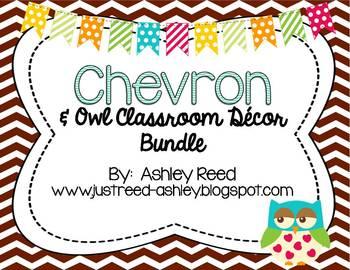 Chevron Owl Class Decor Kit