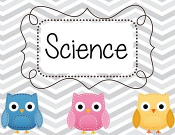 Chevron Owl Classroom set
