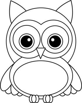 Chevron Owl Clipart ~ Fall Colors