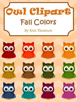 Chevron Owl Clipart ~ Fall Colors