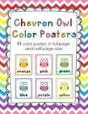 Chevron Owl Color Poster Set