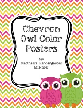Chevron Owl Color Posters