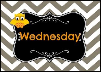 Chevron Owl Days of the Week
