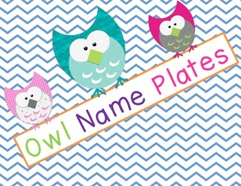 Chevron Owl Desk Name Plates