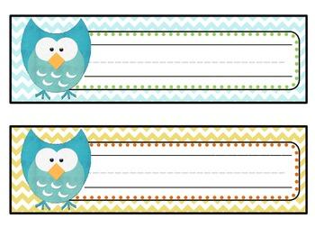 Chevron Owl Nameplates