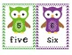 Chevron Owl Number Posters