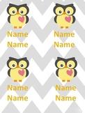 Chevron Owl Pocket Fronts