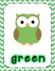 Chevron Owl Posters Bundle-Shapes, Colors, Numbers!