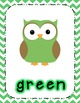 Chevron Owl Posters Bundle-Shapes, Colors, Numbers!