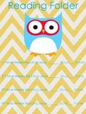 Chevron Owl Reading Folder Cover