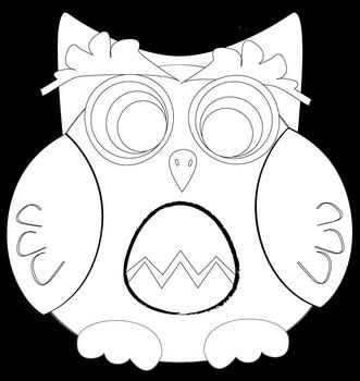 Chevron Owl Clip Art Set {Messare Clips and Design}