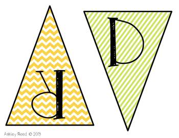 Chevron Owl Word Wall Headers