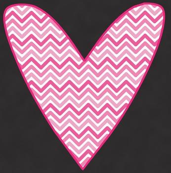 Chevron Hearts Clip Art
