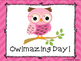 Chevron Owls Behavior Clip Chart and Log