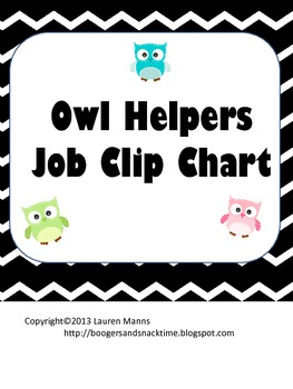 Chevron & Owls Job Chart