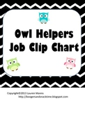 Chevron & Owls Job Chart