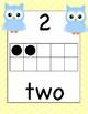 Chevron Owls Ten Frame Number Cards