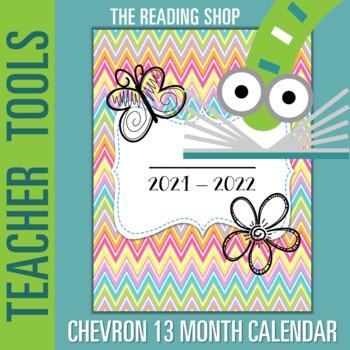 Chevron PDF Printable Calendar - For a Planner or a 3 Ring Binder