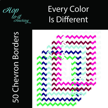 """Chevron Page Borders """"Collection of 50"""""""