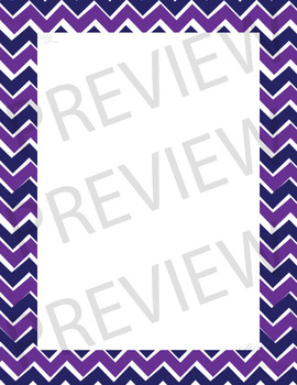 Chevron Page Borders (two toned)