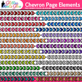 Chevron Page Dividers Clip Art | Rainbow Glitter Borders for Worksheets