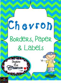 Chevron Paper, Borders, & Labels Bundle