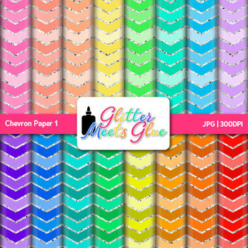 Rainbow Chevron Paper {Scrapbook Backgrounds for Task Cards & Brag Tags} 1