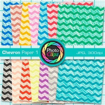 Rainbow Chevron Paper {Scrapbook Backgrounds for Worksheets, Resources} 1
