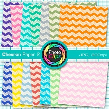 Rainbow Chevron Paper {Scrapbook Backgrounds for Worksheets, Resources} 2