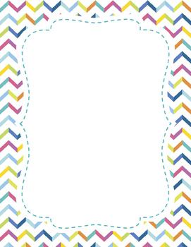 chevron paper frame border by miss ilyssa kindergarten tpt
