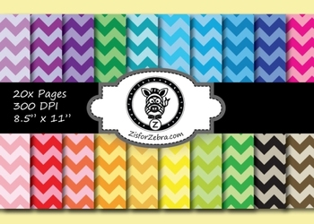 Chevron Paper Pack 2 - 20 pages - Ok for Commercial