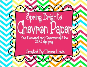 Chevron Paper Pack Spring Brights