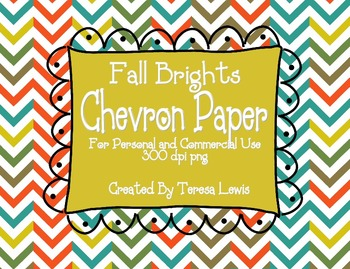 Chevron Paper Pack and Doodle Frames Fall Brights