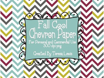 Chevron Paper Pack and Doodle Frames Fall Cool Colors