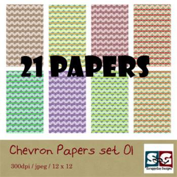 Chevron Paper Pack set 01