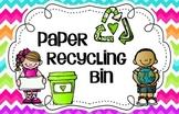 Chevron Paper Recycling Bin