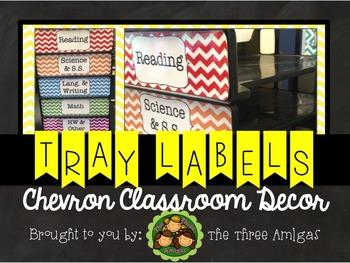 Chevron Paper Tray Labels